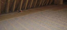 isolation des combles perdus en ouate de cellulose d'un manoir du Perche