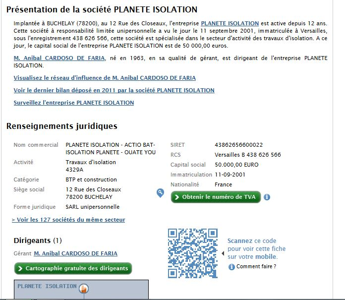 information juridiques planète isolation